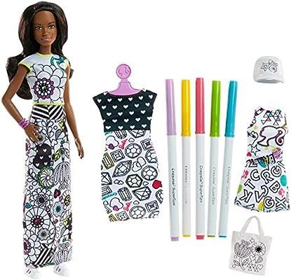 Barbie Colora La Moda Con Pennarelli Crayola E Abiti Da Colorare
