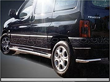 Peugeot Partner MK2 acero inoxidable barras laterales 2014: Amazon.es: Coche y moto