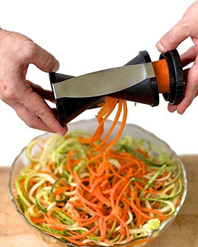 bisika vegetable spiralizer bundle spiral slicer best veggie zucchini spaghetti pasta noodle. Black Bedroom Furniture Sets. Home Design Ideas