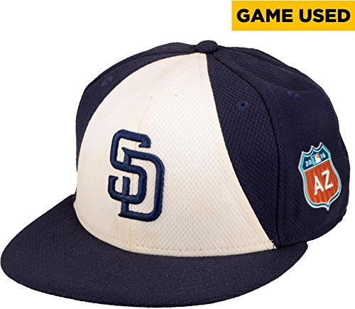 Adam Rosales San Diego Padres Game-Used #9 White and Navy Cap From Spring Training 2016 - Fanatics Authentic Certified