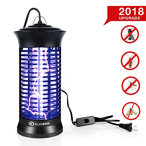 Elivern UV Insect Killer, New Upgrade Bug Zapper & Mosquito Killer Lamp Indoor with Hanging and Switch,Best Stinger for Mosquitoes/Moths/Flies by ELIVERN