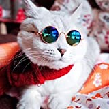 GlobalDeal Dog Puppy Cat Fashion Cool Glasses Round Sunglasses Eyewear Pet Photo Props -1pc Random Color