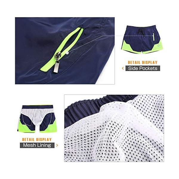 Lachi Costume da Bagno Uomo Mare Vita Elastica con Coulisse Pantaloncini Mare Asciugatura Rapida Spiaggia Nuoto Serf 5 spesavip