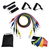 Taotuo 16 PCS Resistance Bands Set – with 5 Workout Bands and 5 Rehab Bands – Heavy Exercise Fitness Bands with Door Anchor Ankle Strap and Resistance Loop Bands Gymnastics Review