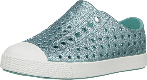 Native Kids Shoes Baby Girl's Jefferson Bling Glitter (Toddler/Little Kid) Pool Bling/Shell White 8 M US Toddler -