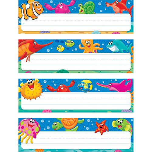 (TREND enterprises, Inc. T-69948BN Sea Buddies Desk Toppers Name Plates Variety Pack, 32 Per Pack, 6 Packs )