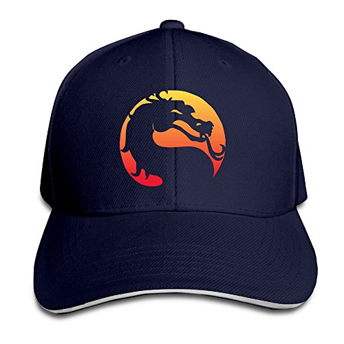 Chalk Logo Mortal Kombat Video Game Franchise Adjustable Unisex Hats Snapbacks Cap Sanwich Bill Caps