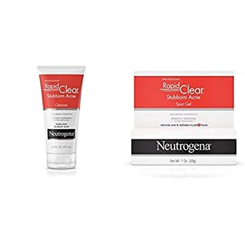 Amazon Com Neutrogena Rapid Clear Stubborn Acne Face Wash With 10