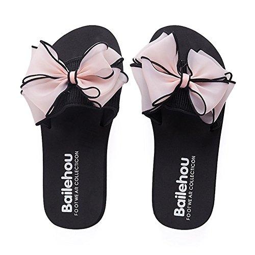 Sandales Lightweight de leader Cool Beauty 3cm Slipper Mer 006 épais Fond papillon Chaussures plage Femmes Antidérapant Sauvage Saison d'été Nœud qqgSwTpW7