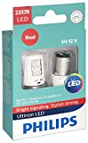 Philips 2357 Ultinon LED Bulb (Red), 2 Pack