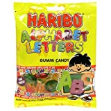 Haribo Gummi Candy, Alphabet Letters, 5-Ounce Bags (Pack of 24)