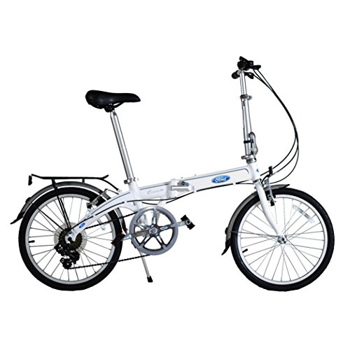 7 Speed Folding Bike (Ford by Dahon Convertible 7 Speed Folding Bicycle, White)