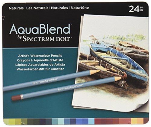 NEW AquaBlend by Spectrum Noir 24pc Pencil Tin - Naturals (Spectrum Store)