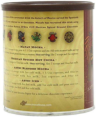 Amazon.com : MOCAFE Azteca Doro 1519 Mexican Spiced Ground Chocolate, 14-Ounce Tin : Grocery & Gourmet Food