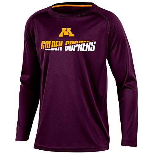 NCAA Minnesota Golden Gophers Youth Boys Long Sleeve Crew Neck T-shirt, Medium Minnesota Golden Gophers Tailgate