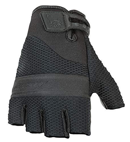 Rocket Mesh Joe Black Glove (Joe Rocket Vento Men's Fingerless Motorcycle Riding Gloves (Black, Medium))
