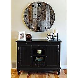 36 inch Papa Bear Reclaimed Wood Large Rustic Wall Clock