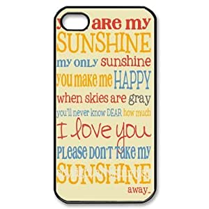 Hu Xiao Custom Cover case cover for Iphone 4,4S with You are my sunshine at eA6Hgh5E4Pd SHSHU