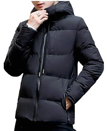 xiaohuoban Men Casual Jacket Hooded Coat Outwear Zipper Overcoat