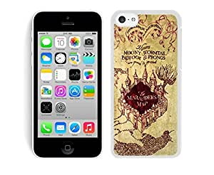 Cool TPU Phone Case for Iphone 5c Harry Potter Marauders Map Cell Phone Protective Soft Silicone White Cover Accessories