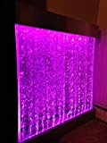 Bubble Panel XXL 48''x44'' Wall hanging Bubble Fountain ,Color Lights Remote Ctrl by JERSEY HOME DECOR