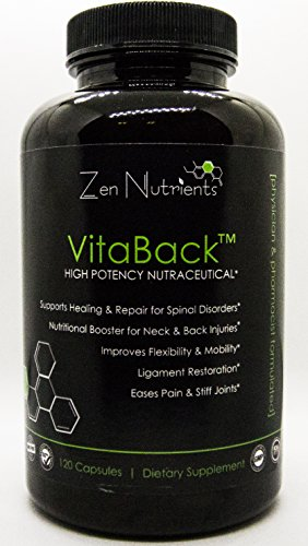 VitaBack High Potency Nutraceutical Dietary Supplement For Relief Of Back Pain: Eases Pain And Stiff Joints
