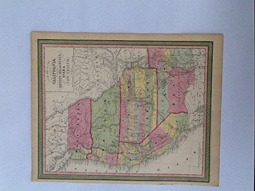 ORIGINAL ANTIQUE 1853 Map by T. Cowperthwait