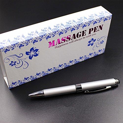 2 in 1 Vibration & massage ballpoint pen - mini Massage Tip Pen with Gift Box - Multifunction Electronic Pen (Silver) by JASON YUEN (Image #7)