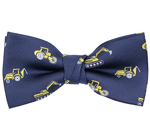 OCIA Boys Pattern Bow Ties Kids Tuxedo Pre-tied Bowties Party & Wedding Engineering Truck by OCIA (Image #1)