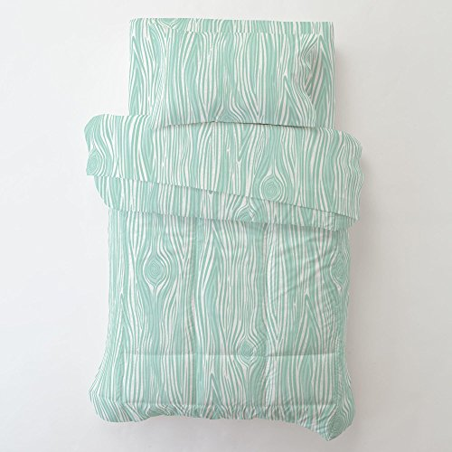 Carousel Designs Mint Large Woodgrain Toddler Bed Sheet Fitted by Carousel Designs (Image #2)