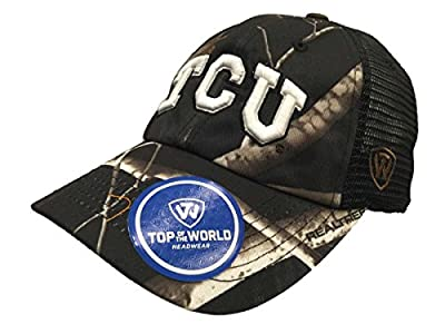 Top of the World TCU Horned Frogs TOW Black Realtree Camo Harbor Mesh Adjustable Snapback Hat Cap by Top of the World