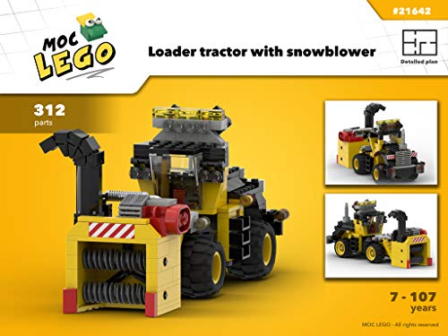Loader tractor with motorized snowblower (Instruction Only): MOC LEGO por Bryan Paquette