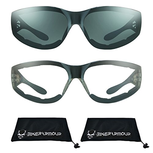 a33dbc4d93f4 Motorcycle Sunglasses Foam Padded for Men and Women. Chrome Flame ...