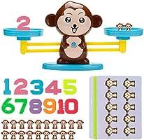 Rolling Monkey Balance Leky, Digital Addition och Subtraktion Spel Intelligens Test Pussel Monkey Balans Spelskala Tidigt...