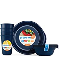 Preserve, Everyday Tableware Set, Midnight Blue