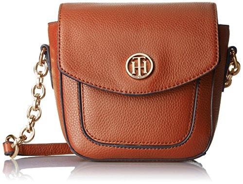 Tommy Hilfiger Th Leather Saddle Bag, Cognac (Tommy Hilfiger Pebble)