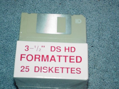 3.5 inch DS HD Formatted 25 Diskettes by HMC