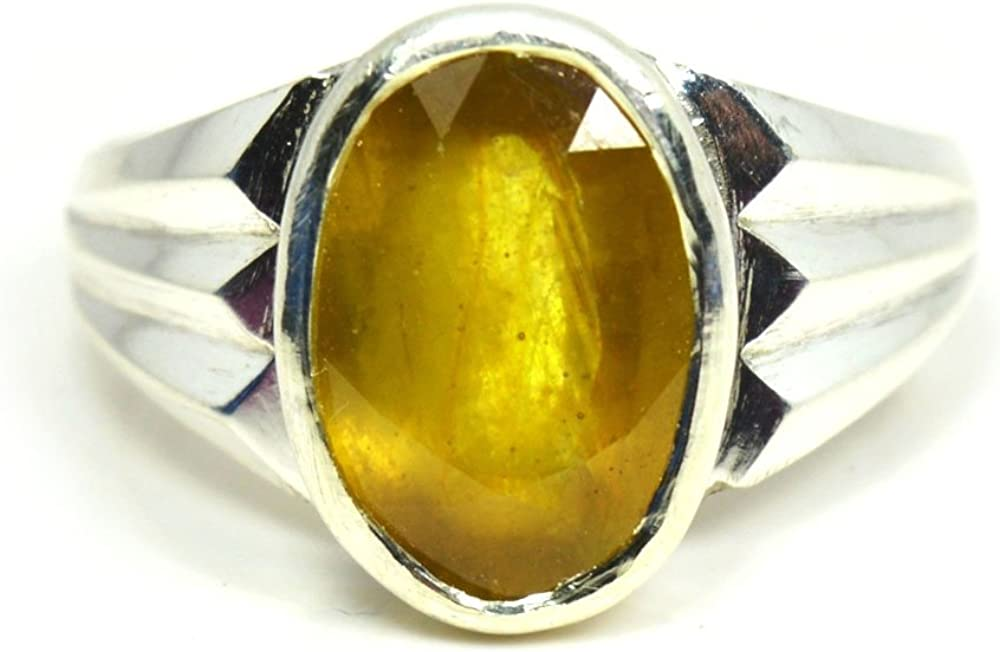 Jewelryonclick 5 Popular shop is the lowest price challenge Sale item Carat Natural Yellow Sapphire Sterling 925 Silv