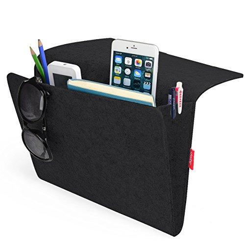 Bedside Caddy, Felt Bed Caddy Storage Organizer Pocket...