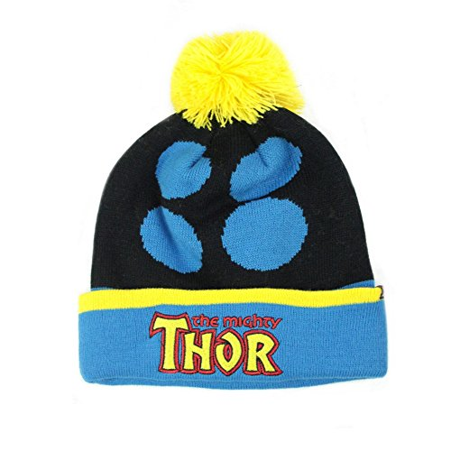 Thor Official Adults Unisex Retro Original Bobble Hat (One Size) (Black/Blue)