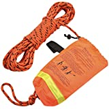 Shoreline Marine Rescue Throw Rope, 1/4-Inch x 50-Feet
