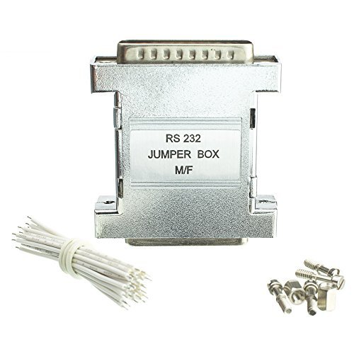 RS-232 Jumper Box, DB25 Male to DB25 (Db25 Female Rs 232 Jumper)