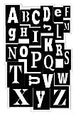 Inkadinkado Alphabet Background Cling Stamp by Inkadinkado