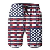 confirm vt Men's Beer USA Flag Quick Dry Summer Beach Surfing Board Shorts Swim Trunks Cargo Shorts