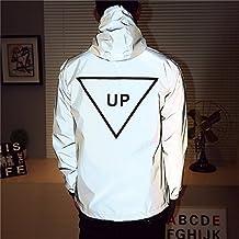 Fangfei 3M Reflective Coat Hooded Windbreaker Fashion Runing Jacket(UP)