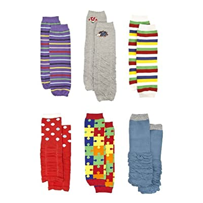 2be43497a2a40 Baby Leg Warmers Set of 6: Corey's Colorful Baby Leggings