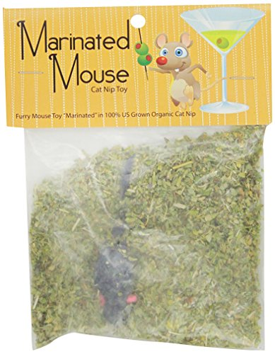 Chasing Our Tails Marinated Mouse, 100-Percent Organic Cat Nip with Rabbit Fur Mouse (Catnip 100% Mice)