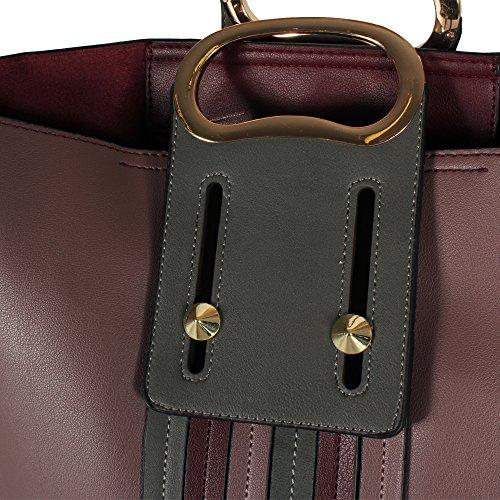 Tom & Eva donna borsa a tracolla con la borsa per il trucco Multicolor 17E-1868 pink