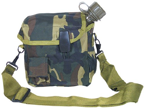 Woodland Camouflage 2 Quart Canteen Bladder Cover with Bl...