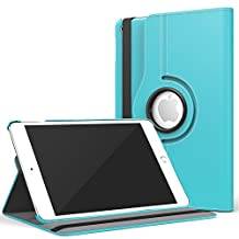 iPad Mini 4 Case, Moko 360 Degree Rotating Cover Case With Auto Wake / Sleep for Apple iPad Mini 4 (2015 edition) 7.9 inch iOS Tablet, Light BLUE